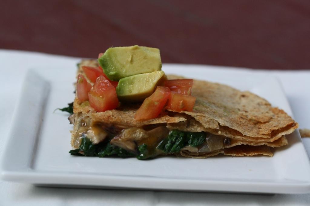 Spinach and Mushroom Quesadillas - Koko Likes — Koko Likes