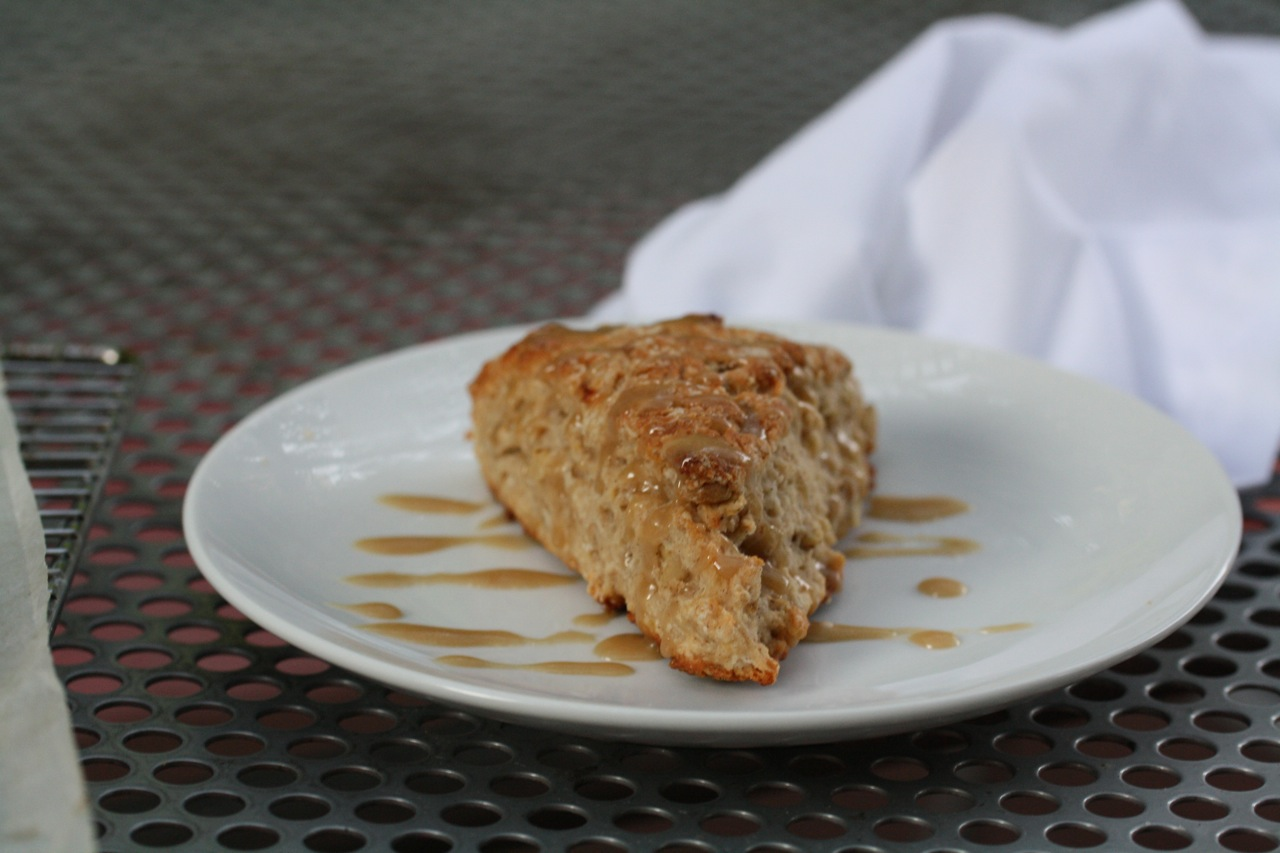 Banana Bread Scones with Brown Sugar Glaze - Koko Likes — Koko Likes
